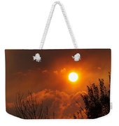 Late Afternoon Sun Through Smoke And Clouds Weekender Tote Bag