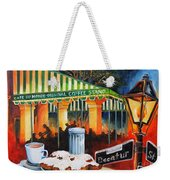 Late At Cafe Du Monde Weekender Tote Bag