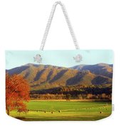 Late Autumn Afternoon In Cades Cove Weekender Tote Bag