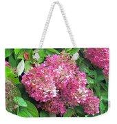 Late Hydrangea Flower Weekender Tote Bag