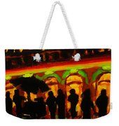 Late Night Hotdog Cart In Halifax Weekender Tote Bag