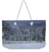 Late Snow At The Rio Grande Weekender Tote Bag