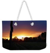 Late Sunset And Tree Weekender Tote Bag