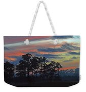 Late Sunset Trees In The Mist Weekender Tote Bag