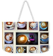 Latte Art Collage Weekender Tote Bag