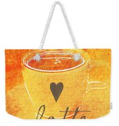 Latte Weekender Tote Bag by Linda Woods