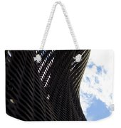 Lattice With Blue Sky And Clouds Weekender Tote Bag