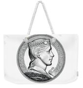 Latvia Crown Weekender Tote Bag by Fred Larucci