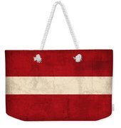Latvia Flag Vintage Distressed Finish Weekender Tote Bag