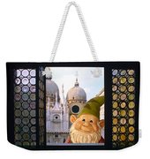Laughing Gnome In Venice Weekender Tote Bag