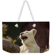 Laughing Lioness Weekender Tote Bag