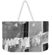 Laundry I Black And White Venice Italy Weekender Tote Bag