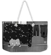 Laundry Vii Black And White Venice Italy Weekender Tote Bag
