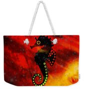 Lava Loving Seahorse Weekender Tote Bag
