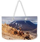 Lava Sculptures And Volcanoe Mount Ngauruhoe Nz Weekender Tote Bag
