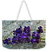Lavender On White Stone Weekender Tote Bag