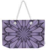 Lavender Abstract Flower Weekender Tote Bag