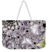 Lavender And Green Fractal Abstract  Weekender Tote Bag