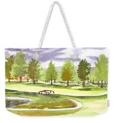 Lavender And Green Weekender Tote Bag