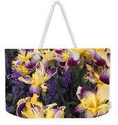 Lavender And Irises Weekender Tote Bag