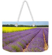 Lavender And Mustard Weekender Tote Bag