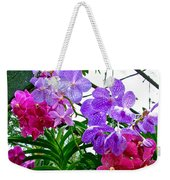Lavender And Red Orchids At Maerim Orchid Farm In Chiang Mai-tha Weekender Tote Bag