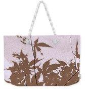 Lavender And Taupe Haiku Weekender Tote Bag