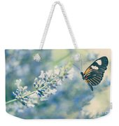 Lavender And The Butterfly Weekender Tote Bag