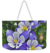 Lavender And White Star Flowers Weekender Tote Bag