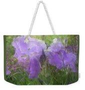 Lavender Blue Iris Garden Weekender Tote Bag