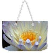 Lavender Edged Lotus Weekender Tote Bag