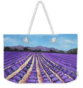 Lavender Field In Provence Weekender Tote Bag