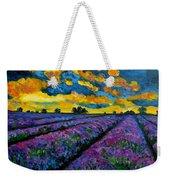 Lavender Fields At Dusk Weekender Tote Bag
