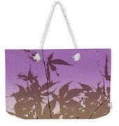 Purple Haiku Weekender Tote Bag
