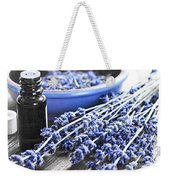 Lavender Herb And Essential Oil Weekender Tote Bag