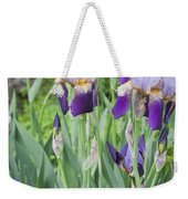 Lavender Iris Group Weekender Tote Bag