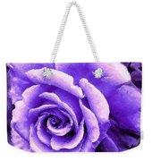 Lavender Rose With Brushstrokes Weekender Tote Bag