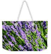 Lavender Square Weekender Tote Bag