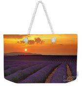 Lavender Sunset Weekender Tote Bag