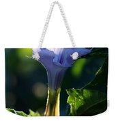 Lavender Trumpet Flower Weekender Tote Bag