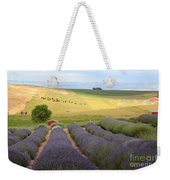 Lavender Valley Weekender Tote Bag by Carol Groenen
