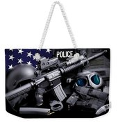 Law Enforcement Tactical Police Weekender Tote Bag by Gary Yost