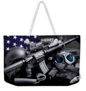 Law Enforcement Tactical Sheriff Weekender Tote Bag by Gary Yost