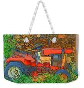 Lawn Tractor And Wood Pile Weekender Tote Bag