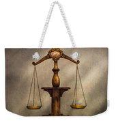 Lawyer - Scale - Fair And Just Weekender Tote Bag by Mike Savad