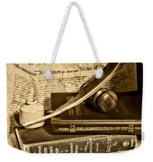 Lawyer - The Constitutional Lawyer In Black And White Weekender Tote Bag