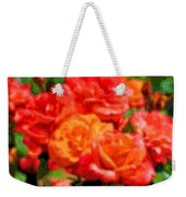 Layer Art Flowers Roses Weekender Tote Bag