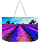 Layer Landscape Art Lavender Field Weekender Tote Bag