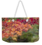 Layers Of Autumn Red Weekender Tote Bag