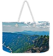 Layers Of Mountains From Watchman Overlook In Crater Lake National Park-oregon  Weekender Tote Bag
